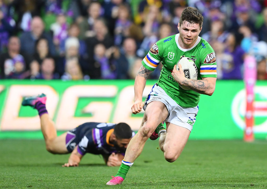 John Bateman scoring a try