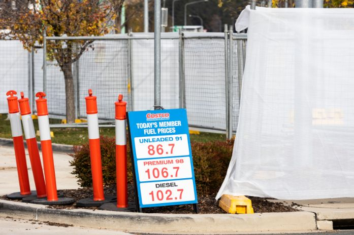 Construction of six new fuel pumps will temporarily close Costco Majura fuel station's existing pumps from Monday 11 May until mid-June.