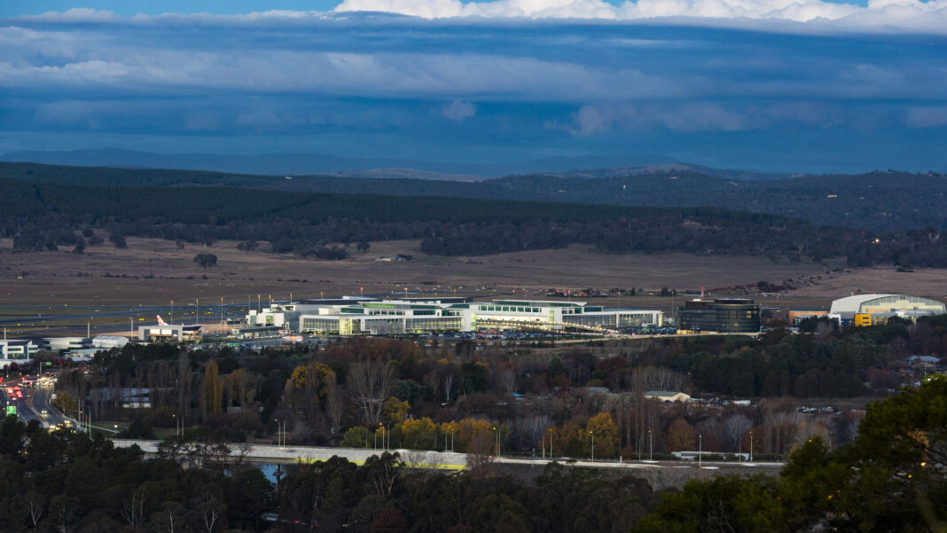 Canberra Airport in landscape