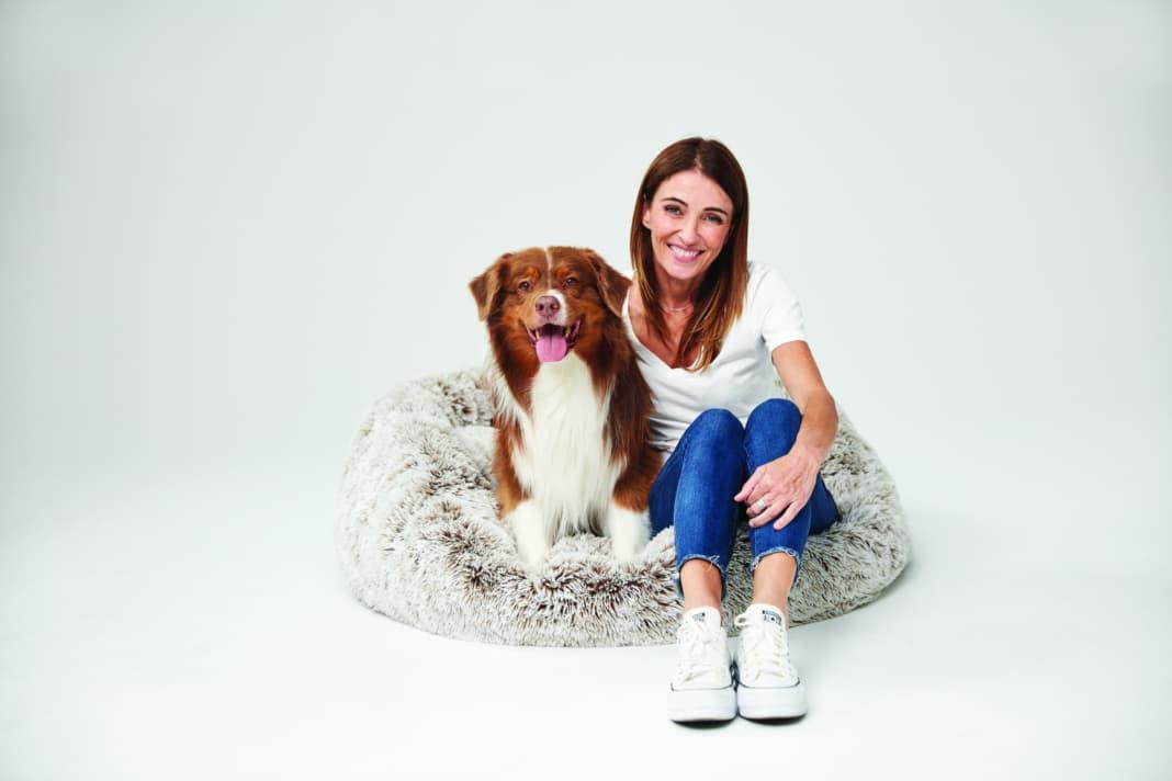 Katrina Warren with her dog Riley