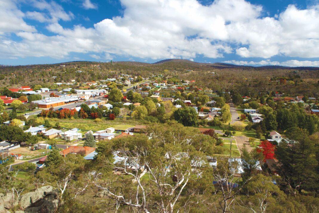 aerial shot of properties