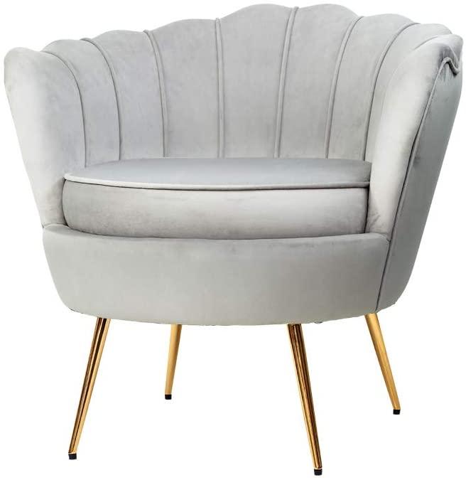 Amazon Australia Artiss Armchair Velvet Upholstery Grey