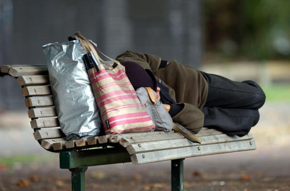 Homelessness week - homeless person sleeping ACT