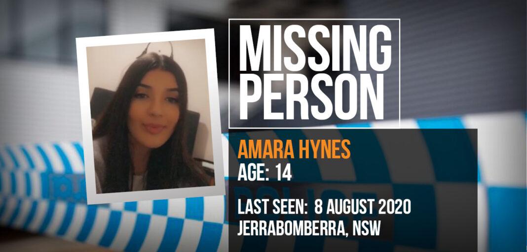 missing teen amara hynes graphic