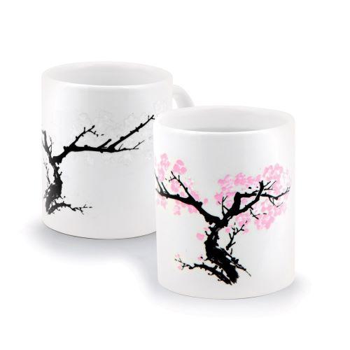 two white mugs
