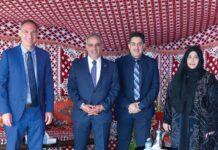 Michael Goldman, HE Abdulla Alsubousi Ambassador UAE, Dr Waleed Alrefea, Roda Almansoori