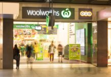front of woolworths shop
