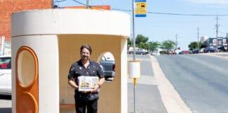 Canberra bus shelter Trevor Dickinson