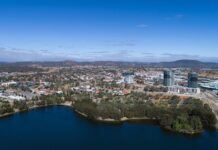 aerial shot of gungahlin