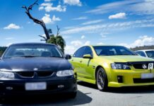 two holden cars