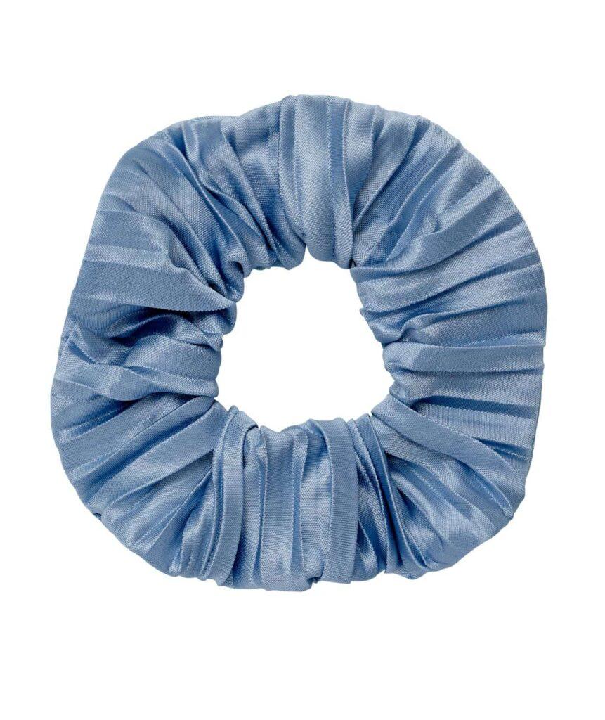 blue scrunchie