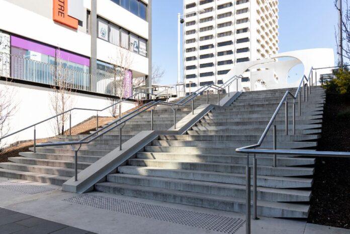Woden interchange stairs