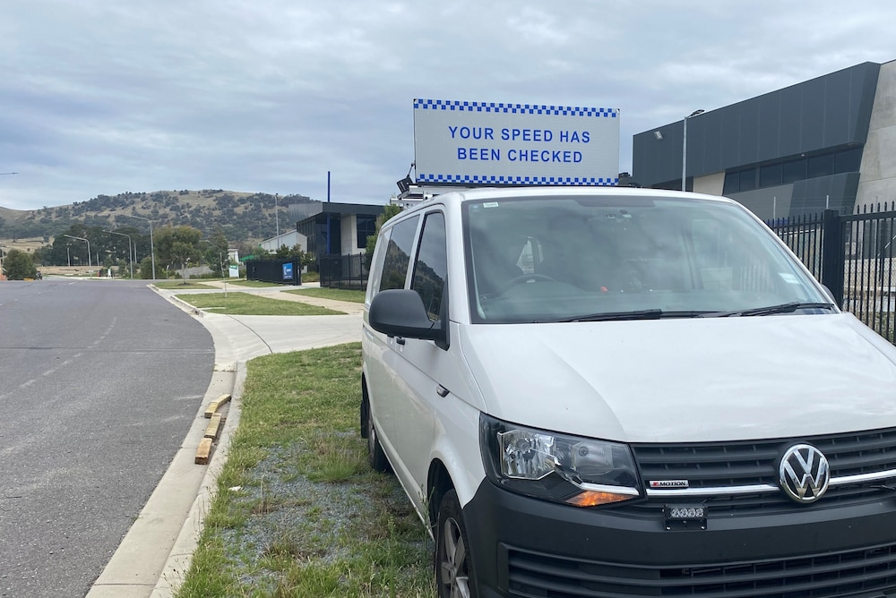 ACT mobile speed camera van fines 2020