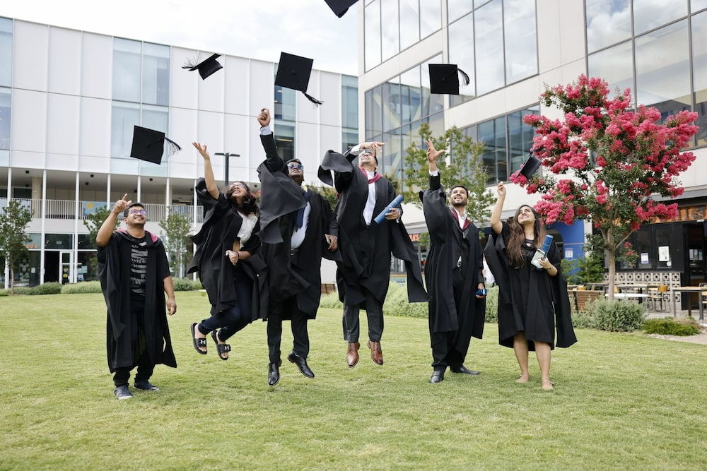 Due to the COVID-19 pandemic, 1,722 ANU students graduated in absentia in July 2020 and 4,378 in December. Credit: The Australian National University.