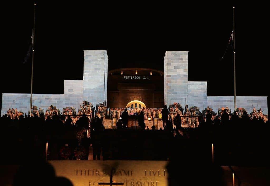 The Australian War memorial on Anzac Day