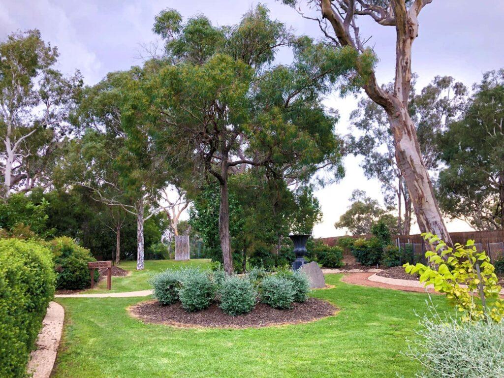 lovely garden at crematorium