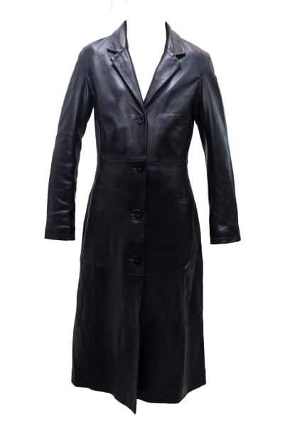 Monica leather trench coat