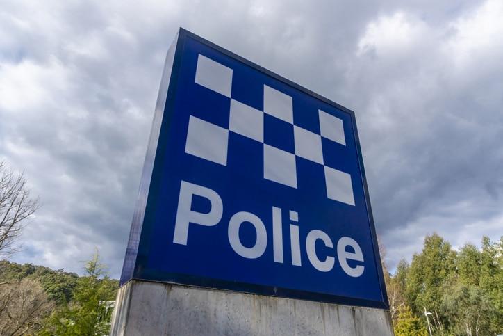 Police station sign in Australia