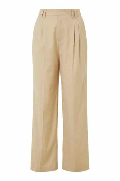 Twill tailored pants