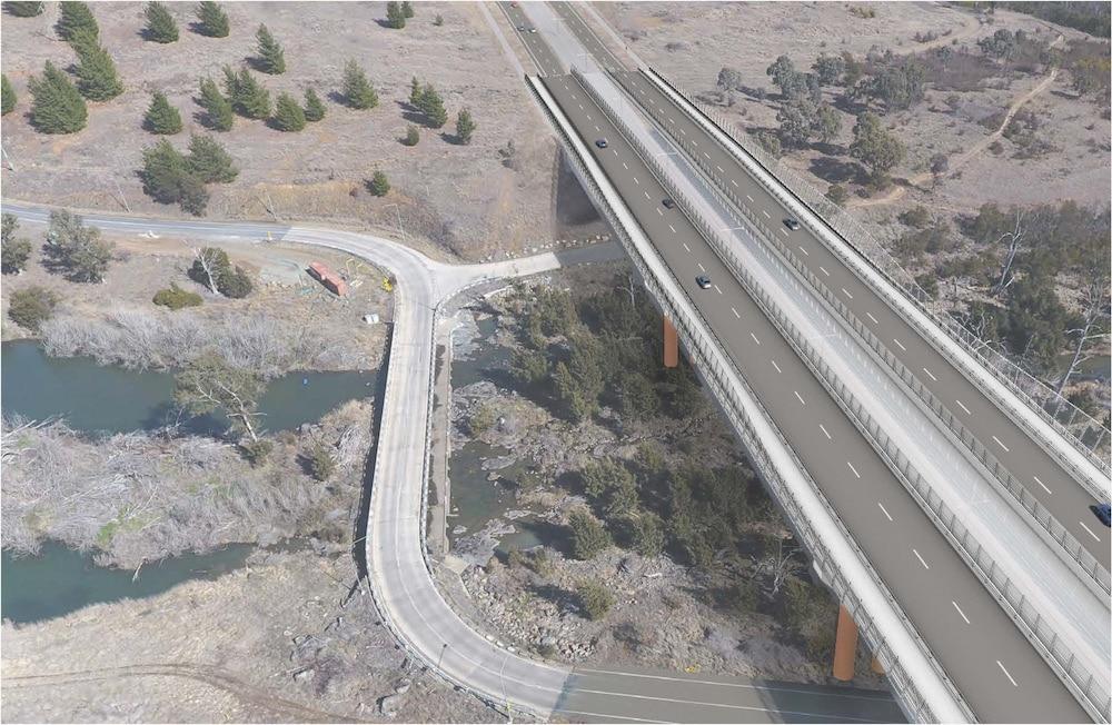 Artist's impression of the Molonglo River bridge. Picture: ACT Government
